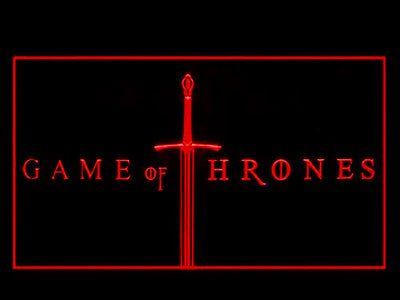 Game of Thrones LED Neon Sign - Red - SafeSpecial
