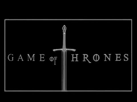 Image of Game of Thrones LED Neon Sign - White - SafeSpecial