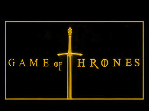 Image of Game of Thrones LED Neon Sign - Yellow - SafeSpecial