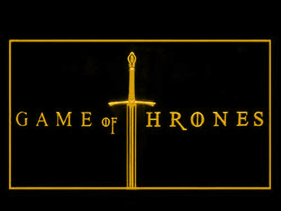 Game of Thrones LED Neon Sign - Yellow - SafeSpecial