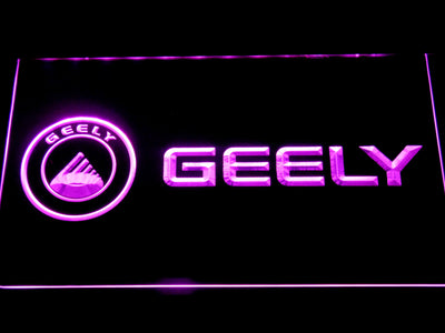 Geely LED Neon Sign - Purple - SafeSpecial