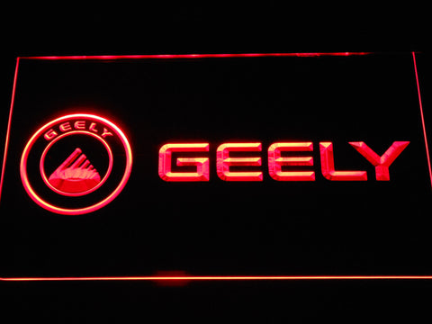 Image of Geely LED Neon Sign - Red - SafeSpecial
