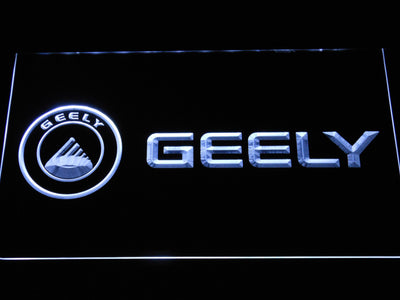 Geely LED Neon Sign - White - SafeSpecial
