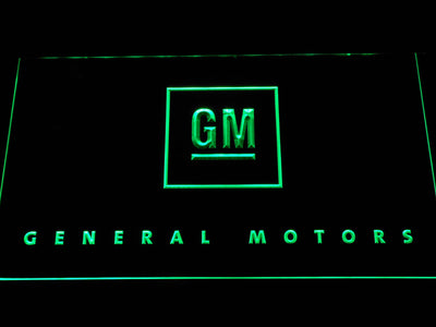 General Motors LED Neon Sign - Green - SafeSpecial