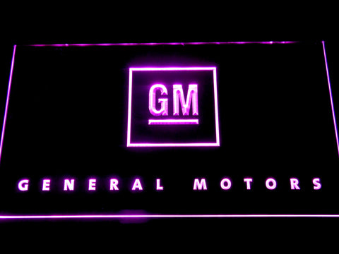 Image of General Motors LED Neon Sign - Purple - SafeSpecial