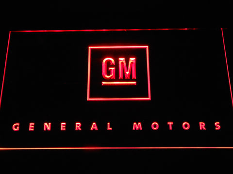 Image of General Motors LED Neon Sign - Red - SafeSpecial