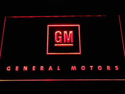 General Motors LED Neon Sign - Red - SafeSpecial