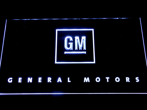 Image of General Motors LED Neon Sign - White - SafeSpecial