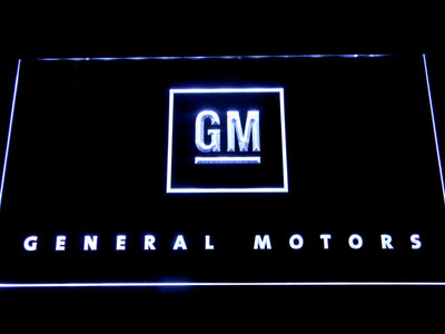 General Motors LED Neon Sign - White - SafeSpecial