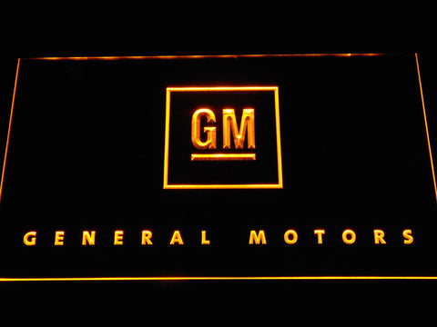 Image of General Motors LED Neon Sign - Yellow - SafeSpecial