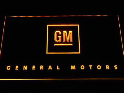 General Motors LED Neon Sign - Yellow - SafeSpecial