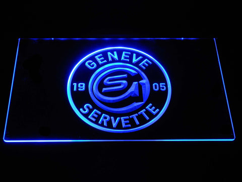 Geneve-Servette HC LED Neon Sign - Blue - SafeSpecial