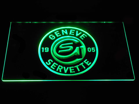 Geneve-Servette HC LED Neon Sign - Green - SafeSpecial