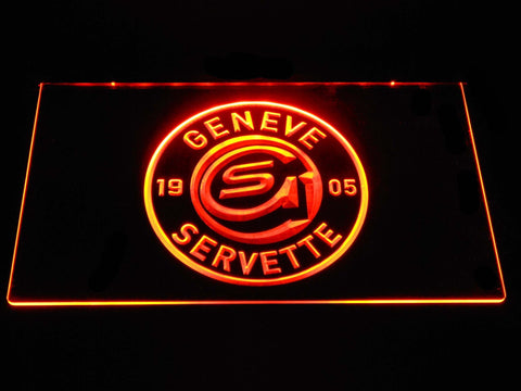 Geneve-Servette HC LED Neon Sign - Orange - SafeSpecial