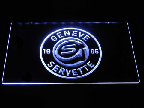 Geneve-Servette HC LED Neon Sign - White - SafeSpecial
