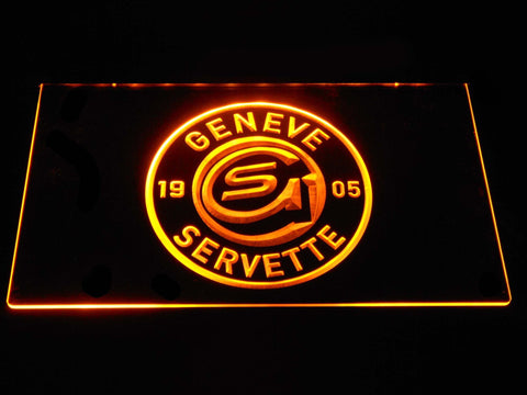 Geneve-Servette HC LED Neon Sign - Yellow - SafeSpecial
