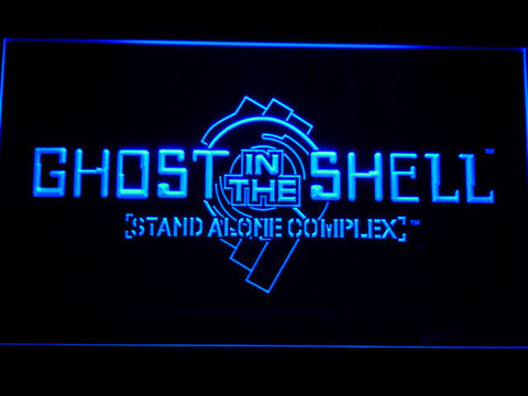 Ghost In The Shell Stand Alone Complex LED Neon Sign - Blue - SafeSpecial