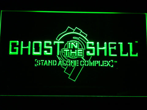 Ghost In The Shell Stand Alone Complex LED Neon Sign - Green - SafeSpecial
