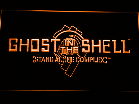 Image of Ghost In The Shell Stand Alone Complex LED Neon Sign - Orange - SafeSpecial