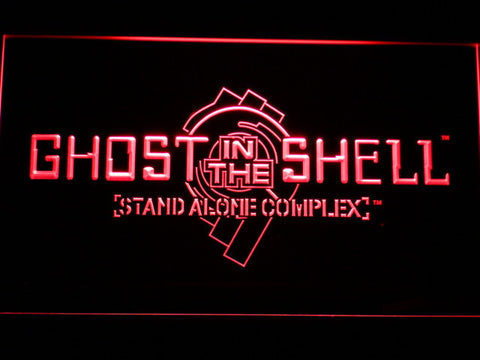 Ghost In The Shell Stand Alone Complex LED Neon Sign - Red - SafeSpecial