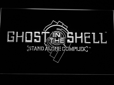 Ghost In The Shell Stand Alone Complex LED Neon Sign - White - SafeSpecial