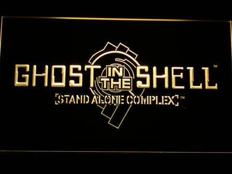 Ghost In The Shell Stand Alone Complex LED Neon Sign - Yellow - SafeSpecial