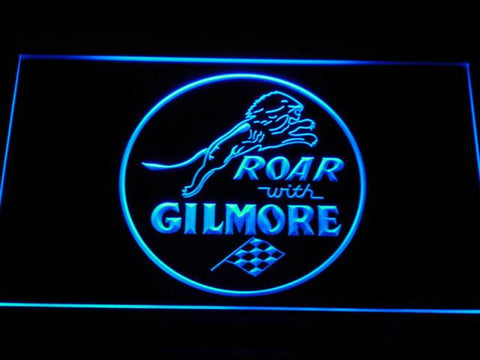 Image of Gilmore Gasoline LED Neon Sign - Blue - SafeSpecial