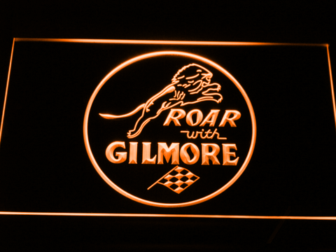 Gilmore Gasoline LED Neon Sign - Orange - SafeSpecial