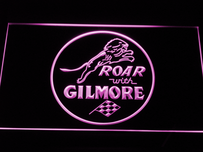 Gilmore Gasoline LED Neon Sign - Purple - SafeSpecial