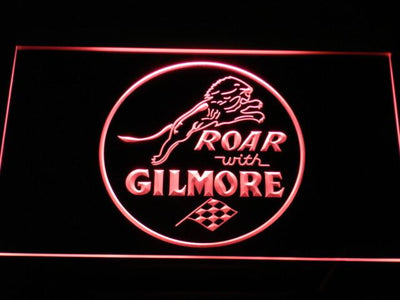Gilmore Gasoline LED Neon Sign - Red - SafeSpecial