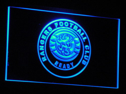 Glasgow Rangers FC LED Neon Sign - Blue - SafeSpecial