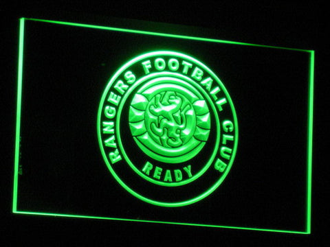 Glasgow Rangers FC LED Neon Sign - Green - SafeSpecial