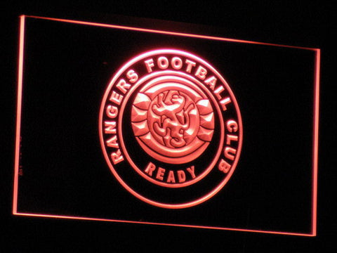 Glasgow Rangers FC LED Neon Sign - Red - SafeSpecial