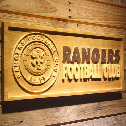 Image of Glasgow Rangers FC Wooden Sign - Legacy Edition - - SafeSpecial