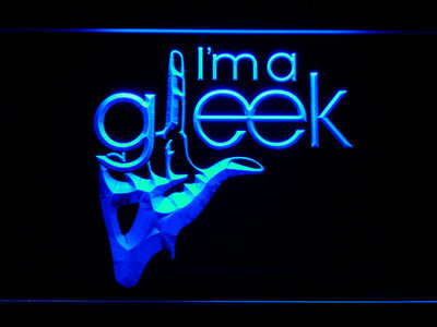 Glee I'm A Gleek LED Neon Sign - Blue - SafeSpecial