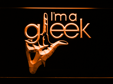 Image of Glee I'm A Gleek LED Neon Sign - Orange - SafeSpecial