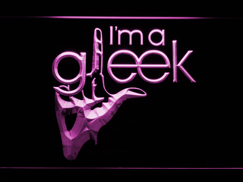 Image of Glee I'm A Gleek LED Neon Sign - Purple - SafeSpecial