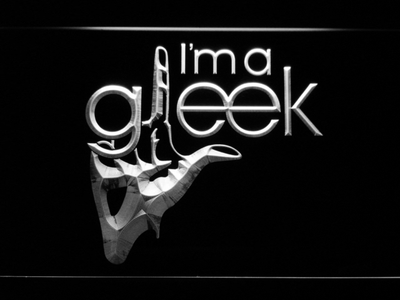 Glee I'm A Gleek LED Neon Sign - White - SafeSpecial