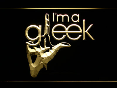 Glee I'm A Gleek LED Neon Sign - Yellow - SafeSpecial