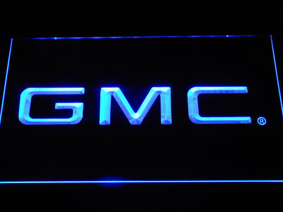 GMC LED Neon Sign - Blue - SafeSpecial