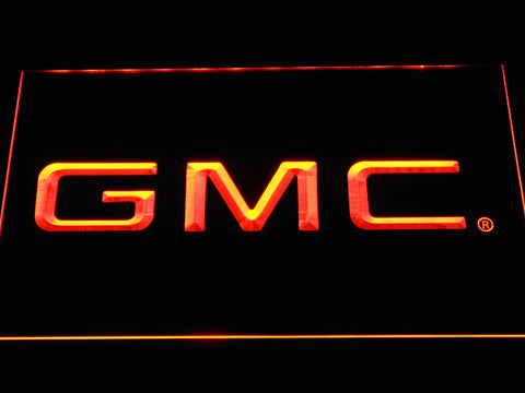 Image of GMC LED Neon Sign - Orange - SafeSpecial