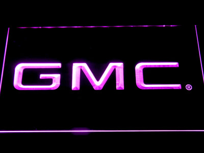 GMC LED Neon Sign - Purple - SafeSpecial