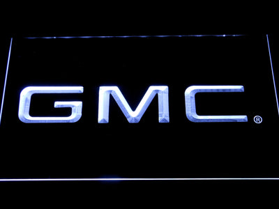 GMC LED Neon Sign - White - SafeSpecial