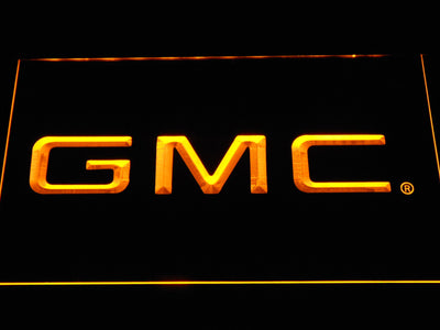 GMC LED Neon Sign - Yellow - SafeSpecial