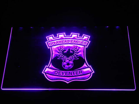 Image of Go Ahead Eagles LED Neon Sign - Purple - SafeSpecial
