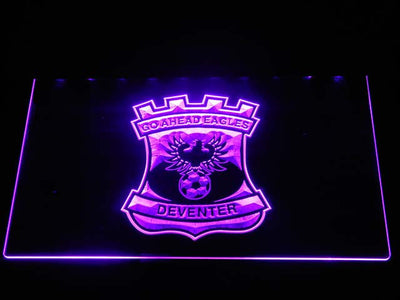 Go Ahead Eagles LED Neon Sign - Purple - SafeSpecial