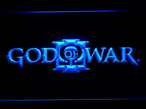 Image of God of War 3 LED Neon Sign - Blue - SafeSpecial