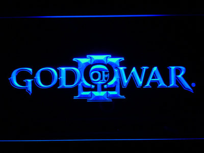 God of War 3 LED Neon Sign - Blue - SafeSpecial