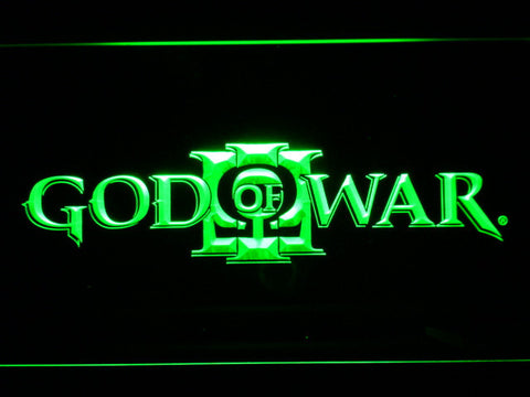 Image of God of War 3 LED Neon Sign - Green - SafeSpecial
