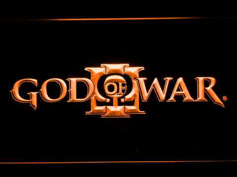 Image of God of War 3 LED Neon Sign - Orange - SafeSpecial